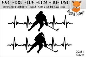Hockey svg love hockeyhockey mom ice hockey sports | etsy. Love Hockey Ekg Heartbeat Svg 96467 Cut Files Design Bundles