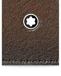 montblanc brown meisterstuck sfumato business card holder for men