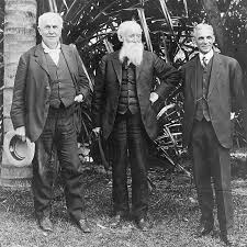 henry ford with thomas edison. Modren Ford Thomas Edison John Burroughs And Henry Ford At Edisonu0027s Home In Fort  Myers Florida 1914 Wikipedia On With Edison O