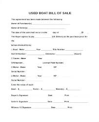 Bill Of Sale For Car Nc Printable Bill Of Sale For Boat Template Vehicle Nc Auto