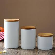 ceramic jars with lids brown ceramic candle jar with wood