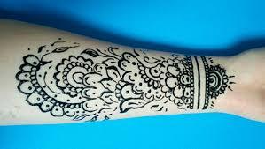 Henna Tetování Na Ruce Pro Začátečníky Mehendi Na Zápěstí