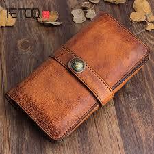 Online Shop <b>AETOO Original</b> design handmade retro leather <b>men's</b> ...