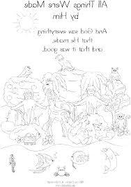 Creation Coloring Pages Free Creation Story Coloring Pages 7 Days Of