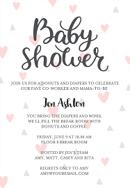Office Baby Shower Invite 22 Baby Shower Invitation Wording Ideas