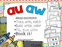 These worksheets will develop skills in the following areas Aw Au 5 Interactive Phonics Activities By Reagan Tunstall Tpt