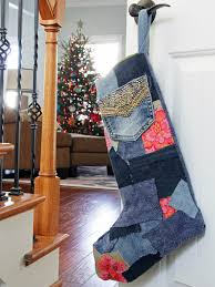 Handmade Christmas Stockings How To Make A Patchwork Denim Christmas Stocking How Tos Diy
