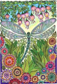 Small Picture 10 best dragonflies entangled images on Pinterest Adult coloring