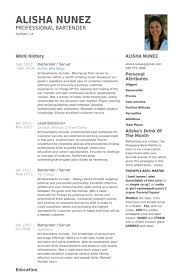 Creative Bartender Resume Google Search Creative Resumes