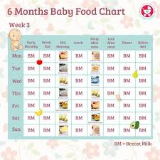 6 Months Food Chart For Indian Babies Food Charts 6 Month