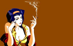 cowboy bebop smoking faye valentine ...