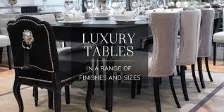 black orchid  designer dining tables  black dining tables