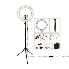 fosoto 18 x9d rl 18 outdoor dimmable photo led ring light kit incl professional social