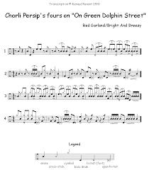 Green Dolphin Street Chart Persip Renaud Penant