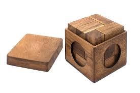 3d wooden cube brain teaser