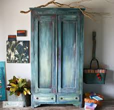 painting designs on furniture. The Turquoise Iris Furniture Art Antique Armoire Diy Paint Painted Morrocan Boho Really Love Her Teal French Pine Cherry Dresser Wardrobe Ikea Wood Country Painting Designs On O