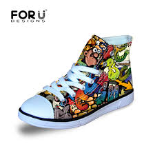 Fun Converse Designs Us 25 29 45 Off Fresh Graffiti Shoe Designs For Boys And Girls Letter Canvas Shoes Breathable Students Board Sneakers Children School Shoes In