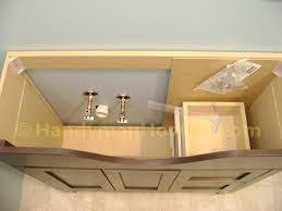 installing a bathroom vanity. Basement Bathroom Vanity Cabinet Plumbing Rough-In Installing A S