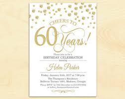 60 birthday invitations etsy 60th birthday invitations stephenanuno com