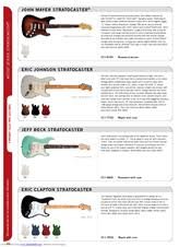 fender eric clapton stratocaster manuals fender eric clapton stratocaster brochure
