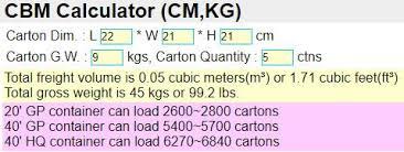 Cbm Calculator Calculate Cbm Volume And Quantity Per