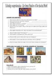 esl worksheets for adults seven wonders of the world english worksheet seven wonders of the world