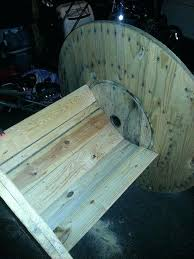 wooden spool chair a large wooden spool chair the boyfriend made wooden cable spool chair