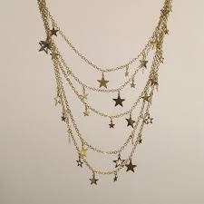 h m jewelry h m golden star necklace