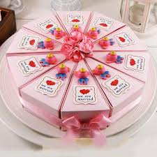 Dia 22cm Pink Cake Design Creative Empty Candy Boxes Diy Paper Gift