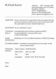 Resume Format For Call Center Job For Fresher Best Of Fishingstudio