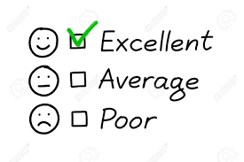 Customer Service Evaluation Form With Green Check Mark On Excellent
