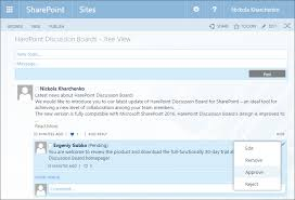 New Discussion Board For Sharepoint 2016 Is Released