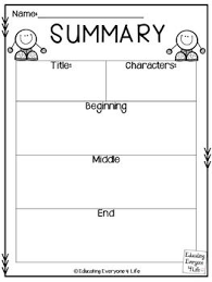best summary ideas summarizing anchor chart   writing a summary graphic organizer click here to this fantastic bie