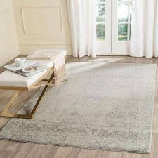 area rug evoke silver ivory 7 ft x 9 ft area rug