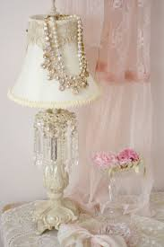 shabby chic lighting. Shabby Chic- Pearls On Lampshade Chic Lighting