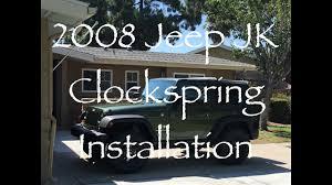 2008 jeep wrangler jk clockspring installation 2008 jeep wrangler jk clockspring installation