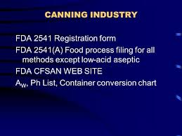 Usfda Canned Food Regulations Thermal Processing Deviations