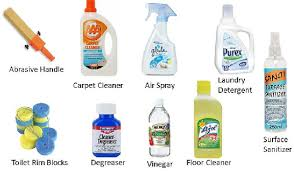 cleaning agents or chemicals