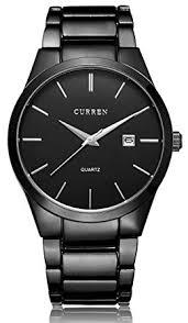 amazon com voeons men s watches classic black steel band quartz voeons men s watches classic black steel band quartz analog wrist watch for men