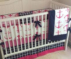 anchor crib bedding designs nautical orative baby girl boy nursery mint sailboat sets clearance owl nautica whale pink cot sheets comforter navy set blue