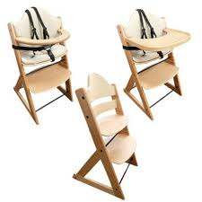 wooden baby high chair 3in1 highchair with tray and bar beech