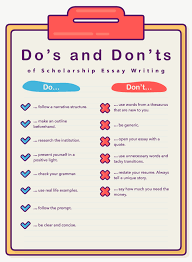 scholarships for writing essays essay for scholarship applications  how to write a scholarship essay essaypro do s and don ts of scholarship essay writing