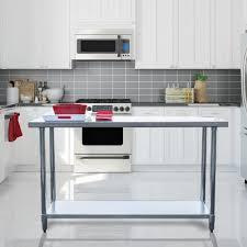 Stainless Steel Work Table Kitchen Center Island Storage Center