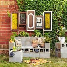 Aweome Ideas Cinder block furniture backyard CondoInteriorDesign
