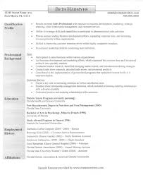 Sales Representative Resume Example Qualifications Related