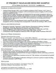 Project Manager Resume Template Caseyroberts Co
