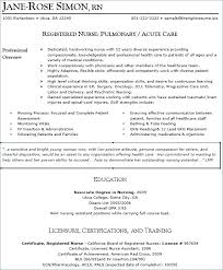 Nursing Resume Templates Free Nursing Resumes Samples Nursing Resume Samples Awesome Free Nursing ...