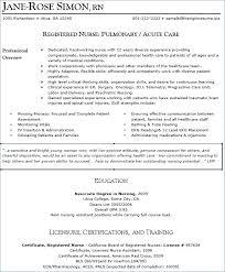 Nursing Resumes Samples Nursing Resume Samples Awesome Free Nursing ...