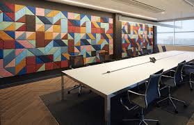 baux acoustic tile design in a soundproofed meeting room in calgary