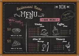 Chalkboard Menu Board Free Chalkboard Menu Stock Vectors Stockunlimited